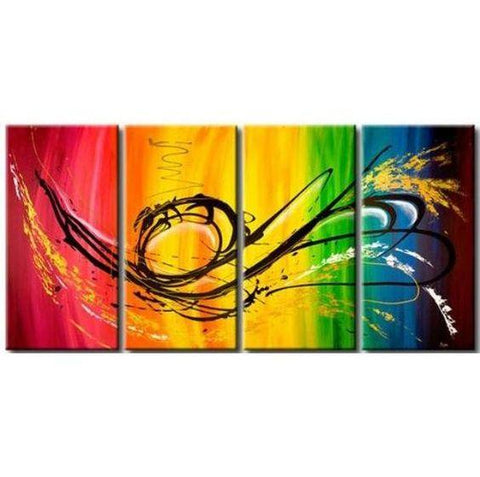 Abstract Art, Dancing Lines Painting, Extra Large Wall Art, Painting for Sale - Art Painting Canvas