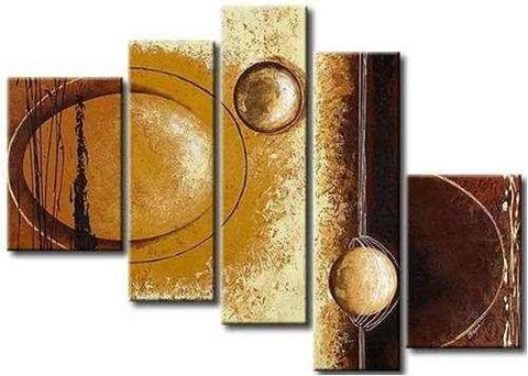5 Piece Abstract Art, Canvas Painting, Acrylic Art for Sale, Huge Painting, Painting for Sale - Art Painting Canvas