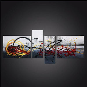 Hand Painted Canvas Painting, 4 Piece Canvas Art, Abstract Art on Sale, Buy Art Online