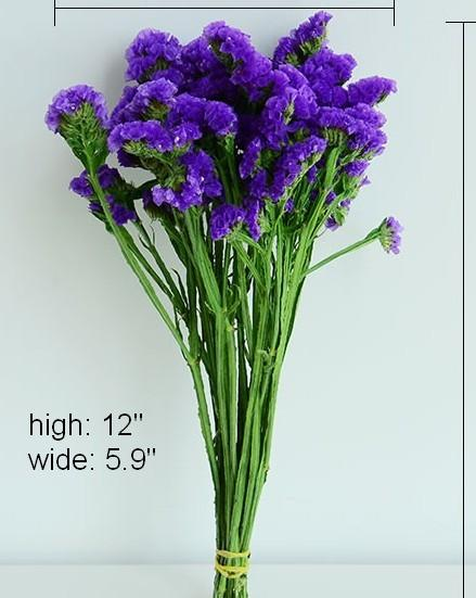 Dried Statices Flower, Dried Flowers, Flower Bunches, Dried Floral