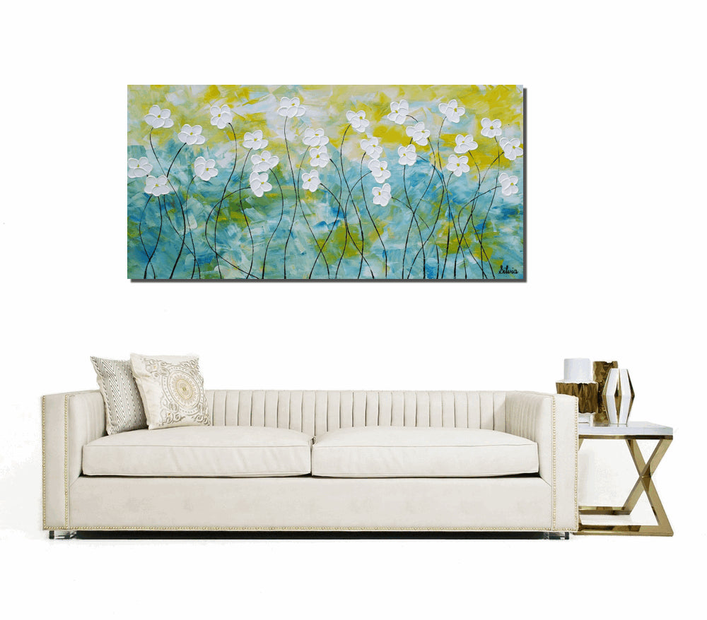 Oil Painting, Flower Painting, Original Painting, Canvas Art, Abstract Art, Wall Art, Large Painting, Abstract Painting, Living Room Art
