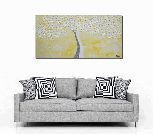 Tree Painting, Canvas Art, Abstract Art, Large Painting, Oil Painting, Wall Art, Canvas Painting, Abstract Painting, Large Art, Framed Art