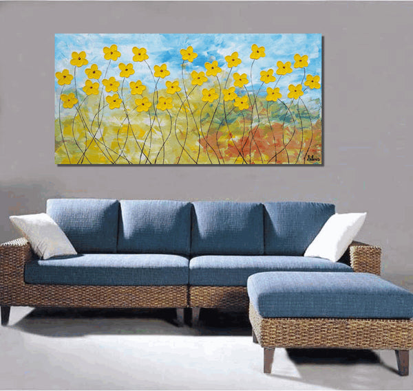 Flower Painting, Large Abstract Art, Abstract Art, Oil Painting, Wall Art, Canvas Painting, Original Painting, Abstract Painting, Large Art