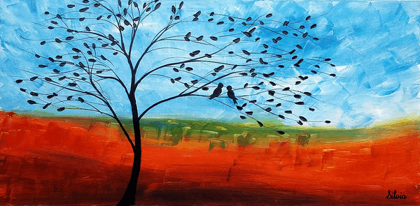 Original Painting, Oil Painting, Bird Painting, Canvas Art, Abstract Art, Wall Art, Canvas Painting, Abstract Painting, Large Art, Wall Art