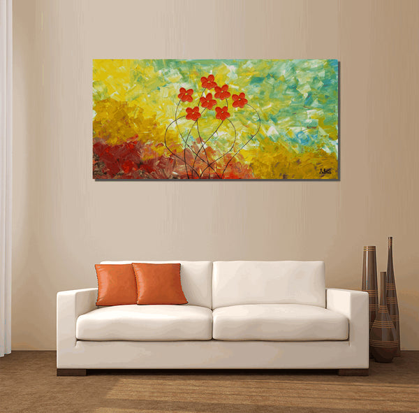 Oil Painting, Flower Painting, Original Painting, Canvas Wall Art, Abstract Wall Art, Wall Art, Extra Large Painting, Living Room Wall Art
