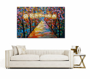 Landscape Painting, Art, Large Art, Canvas Art, Wall Art, Abstract Art, Large Painting, Oil Painting, Abstract Painting, Autumn Painting
