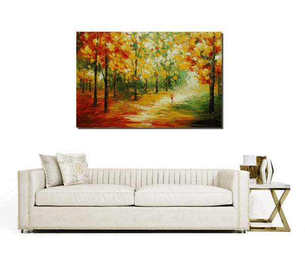 Abstract Painting, Landscape Painting, Original Wall Art, Original Painting, Canvas Painting, Large Painting, Large Art, Autumn Painting - Art Painting Canvas