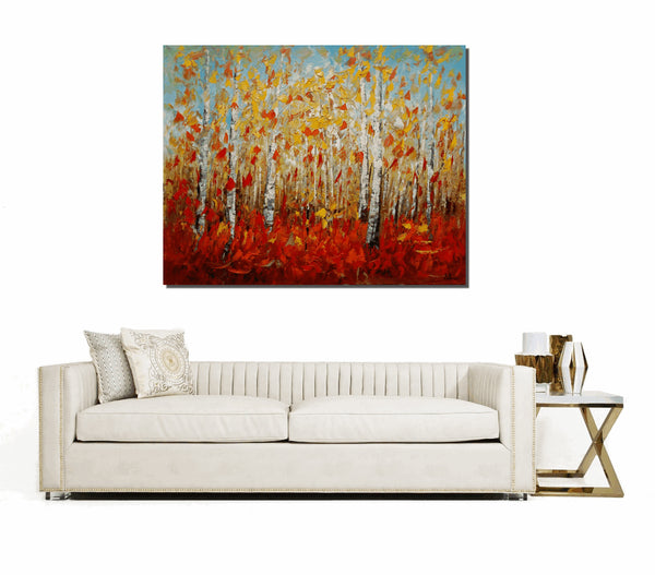 Landscape Painting, Canvas Art, Abstract Art, Autumn Painting, Oil Painting, Wall Art, Canvas Painting, Abstract Painting, Large Wall Art