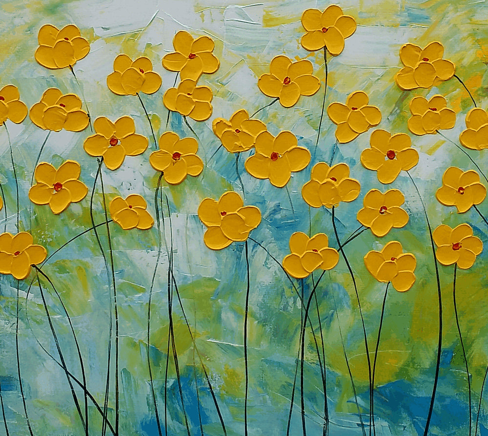 Wall Art Flower Painting Abstract Painting Abstract Art