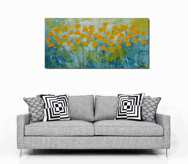 Wall Art, Flower Painting, Abstract Painting, Abstract Art, Canvas Art, Oil Painting, Large Art, Canvas Painting, Floral Art, Large Painting