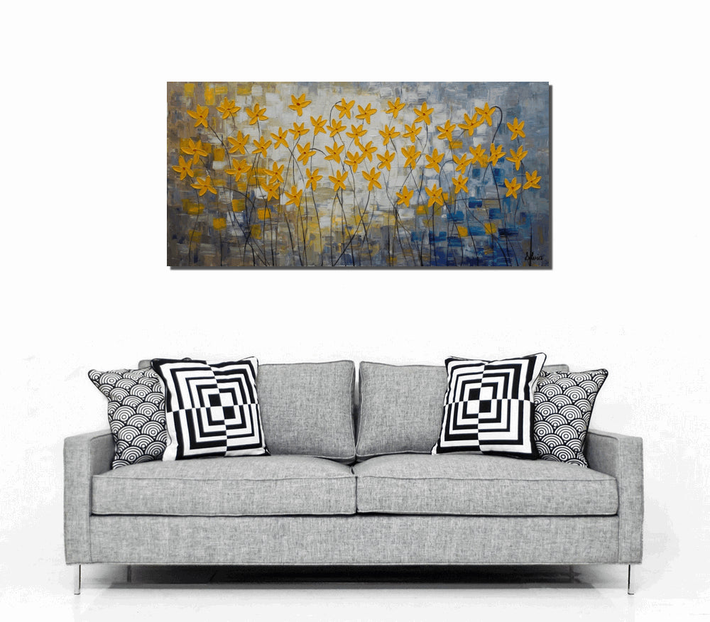 Canvas Art Abstract Wall Large Painting Oil Flower