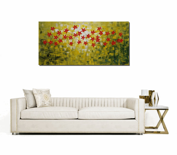 Canvas Painting, Original Oil Painting, Abstract Art, Flower Painting, Wall Art, Canvas Art, Original Painting, Abstract Painting, Large Art - Art Painting Canvas