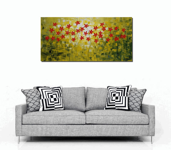 Canvas Painting, Original Oil Painting, Abstract Art, Flower Painting, Wall Art, Canvas Art, Original Painting, Abstract Painting, Large Art