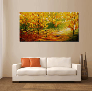 Oil Painting, Wall Art, Canvas Painting, Abstract Painting, Canvas Art, Wall Art, Autumn Forest Painting, Landscape Painting, Abstract Art