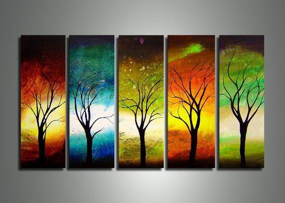 Large Acrylic Painting, Tree of Life Painting, Living Room Wall Art Paintings, Modern Contemporary Art, Tree Paintings-Grace Painting Crafts