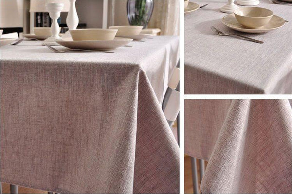Gray Color Linen Tablecloth, Rustic Wedding, , Handmade Tablecloth