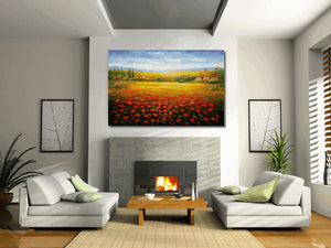 Landscape Painting, Original Oil Painting, Large Oil Painting, Modern Art, Abstract Wall Art, Canvas Art, Palette Knife Painting, Landscape
