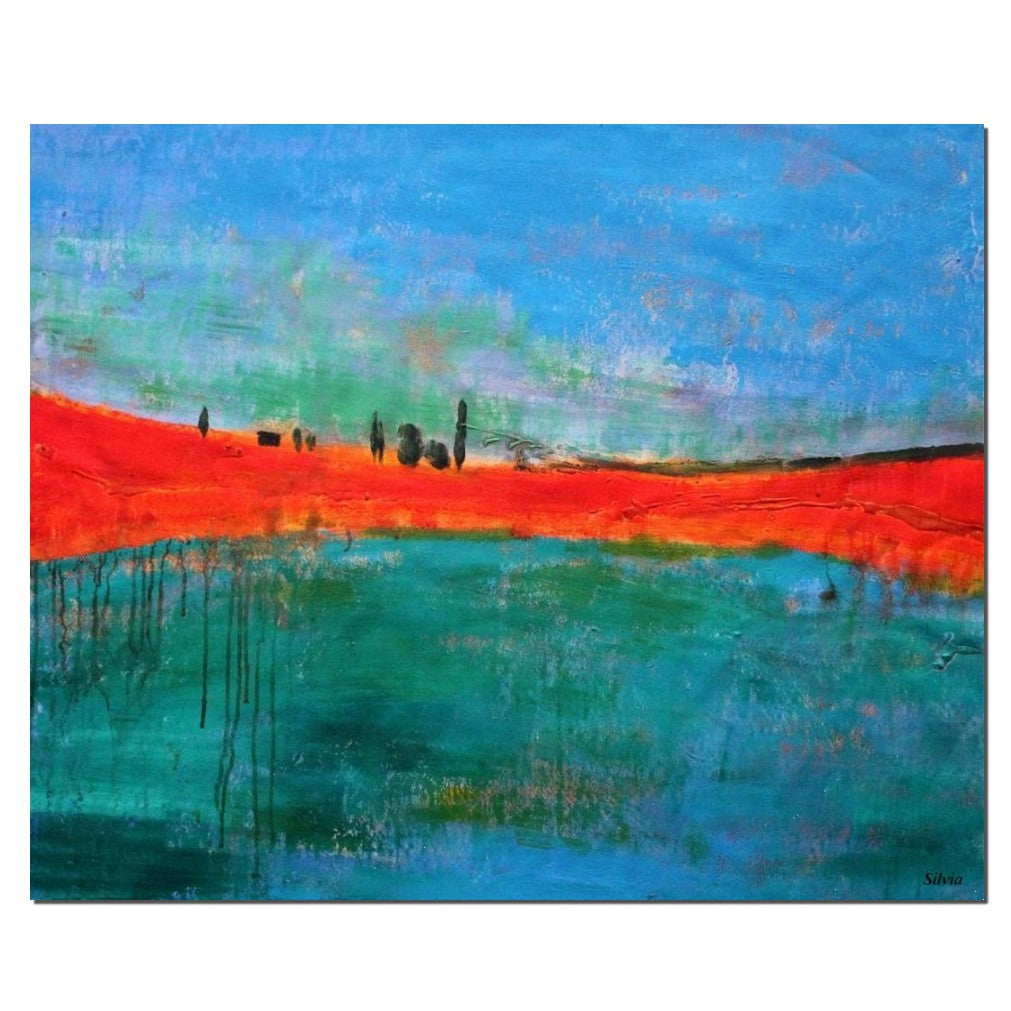 Oil Painting Abstract Modern Art Contemporary Painting Abstract Landscape Painting Large Art Oil Painting Landscape Canvas Art Wall Hanging