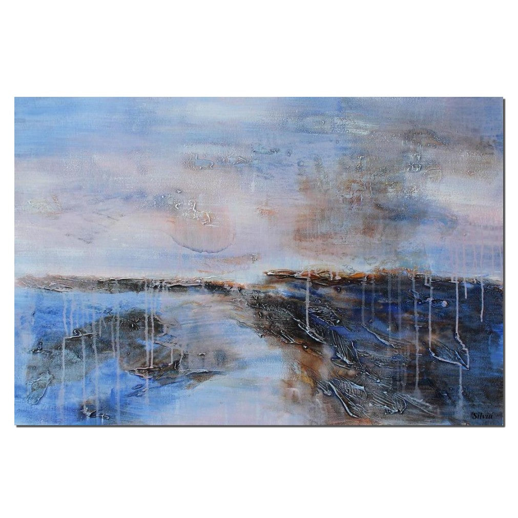 Large Canvas Painting Rustic Living Room Decor Abstract Landscape Art