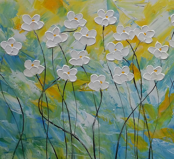 Painting Abstract, Large Painting, Floral Art, Kitchen Decor, Large Wall Decor, Contemporary Painting, Abstract Flower Painting, Flower Art