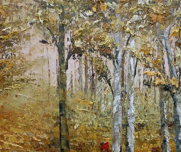 Living Room Art, Large Abstract Painting, Autumn Forest, Modern Art, Abstract Painting, Canvas Art, Landscape Painting, Original Painting