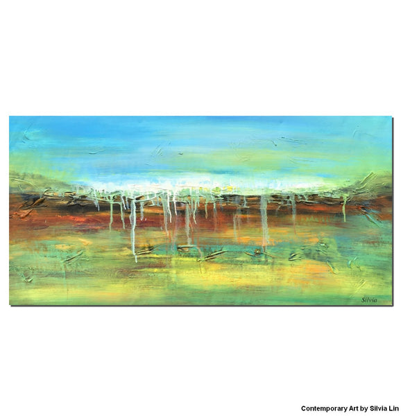 Painting Abstract, Canvas Wall Decor, Modern Art, Original Oil Painting, Canvas Art, Kitchen Wall Decor, Original Landscape Oil Paintings