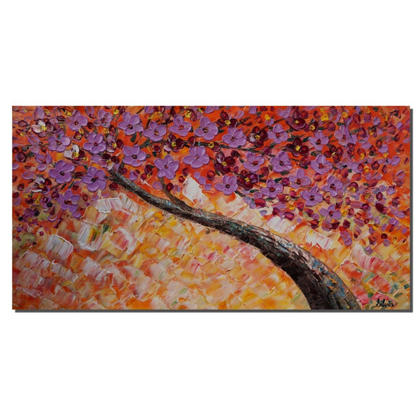 Oil Painting, Modern Painting, Wall Hanging, Large Painting, Flower Art, Abstract Art, Original Abstract Painting, Tree Wall Art, Canvas Art