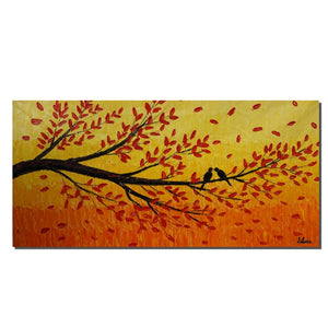 Acrylic Painting, Tree Art, Abstract Canvas Art, Painting Abstract, Living Room Decor, Original Painting, Large Wall Art Painting, Birds Art - Art Painting Canvas