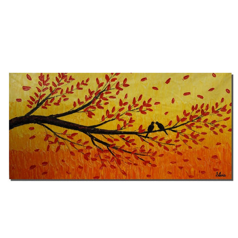 Acrylic Painting, Tree Art, Abstract Canvas Art, Painting Abstract, Living Room Decor, Original Painting, Large Wall Art Painting, Birds Art