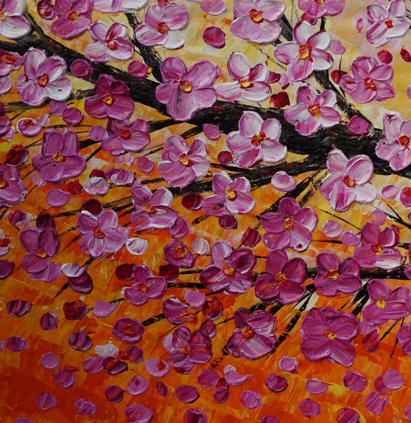 Acrylic Painting, Modern Painting, Wall Hanging, Large Painting, Flower Art, Abstract Art, Original Abstract Painting, Flower Wall Art, Canvas Art
