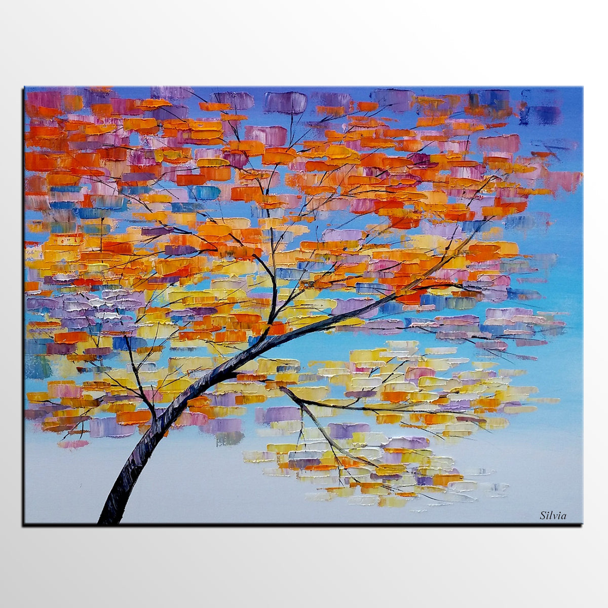 Abstract Tree Painting, Contemporary Painting, Living Room Art, Canvas Art, Flower Art, Large Wall Art Painting, Painting Abstract