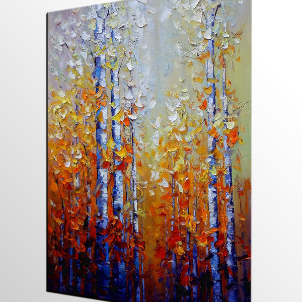 Abstract Painting, Autumn Tree Painting, Landscape Art, Large Canvas Art, Oil Painting, Canvas Painting, Abstract Art, Large Painting On Canvas, Contemporary Art, Original Art - Art Painting Canvas