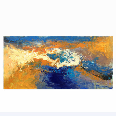 Canvas Art, Abstract Landscape, Oil Painting, Canvas Art, Large Painting, Abstract Painting, Living Room Wall Decor, Abstract Oil Painting - Art Painting Canvas