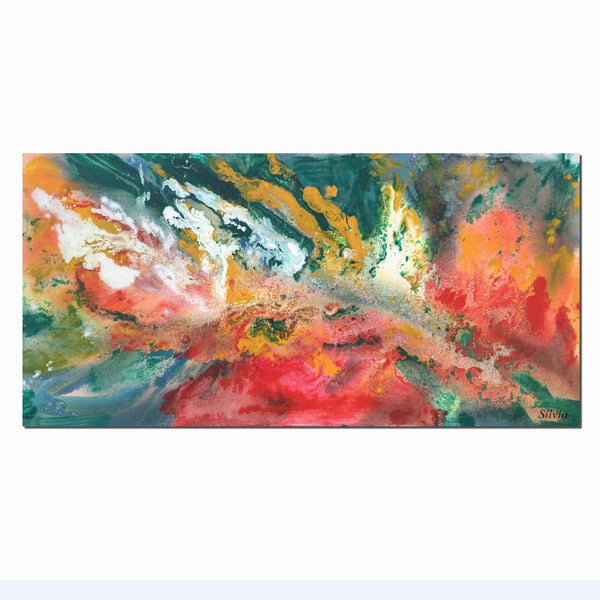Abstract Painting, Modern Art, Original Artwork, Abstract Canvas Art, Kitchen Wall Decor, Abstract Art, Large Oil Painting, Ready to Hang - Art Painting Canvas