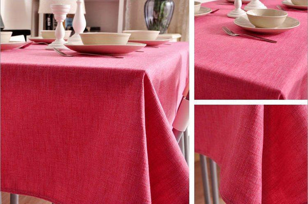 Roseo Linen Tablecloth, Natural Rustic Wedding, , Handmade Tablecloth