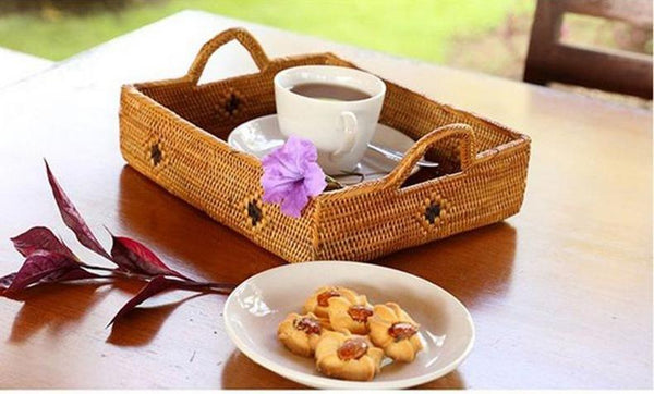 Indonesia Hand Woven Storage Basket, Natural Fiber Baskets, Small Rustic Basket - Silvia Home Craft