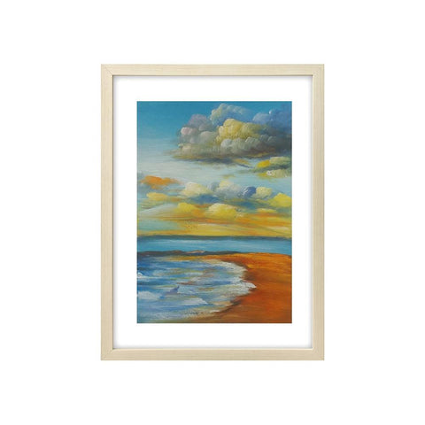 Sunset Seashore Painting, Beach Painting, Canvas Art Painting, Small Painting