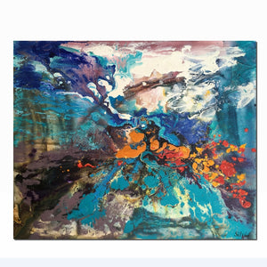 Abstract Painting, Original Abstract Art, Modern Art, Bedroom Wall Decor, Abstract Canvas Art, Abstract Landscape Painting, Wall Decor