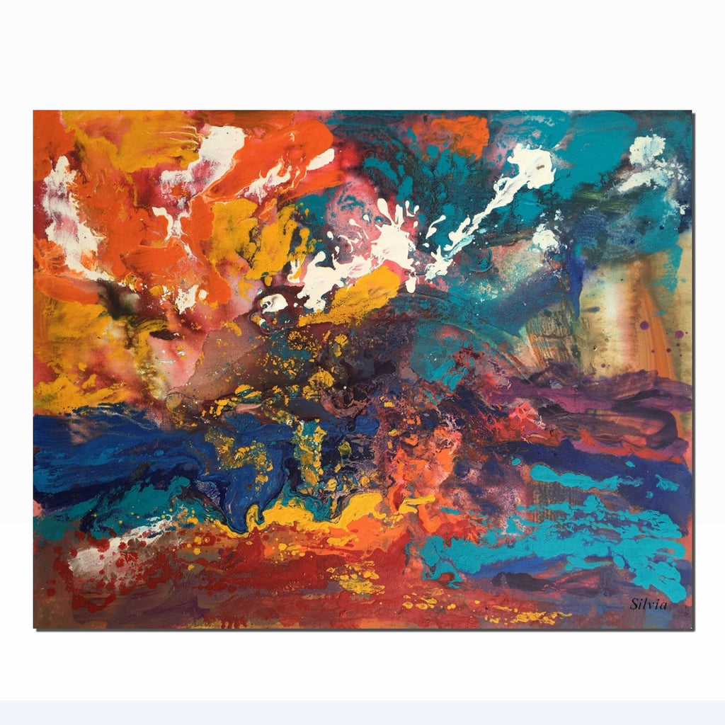 Abstract Painting Original Oil Living Room Art Contemporary Canvas
