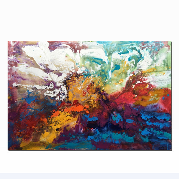 Abstract Painting, Contemporary Art, Large Oil Painting, Abstract Canvas Art, Bathroom Art, Wall Art, Original Artwork, Abstract Art