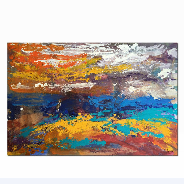 Oil Painting Abstract, Canvas Art, Modern Wall Art, Bathroom Wall Art, Large Landscape Painting, Modern Painting, Original Abstract Art