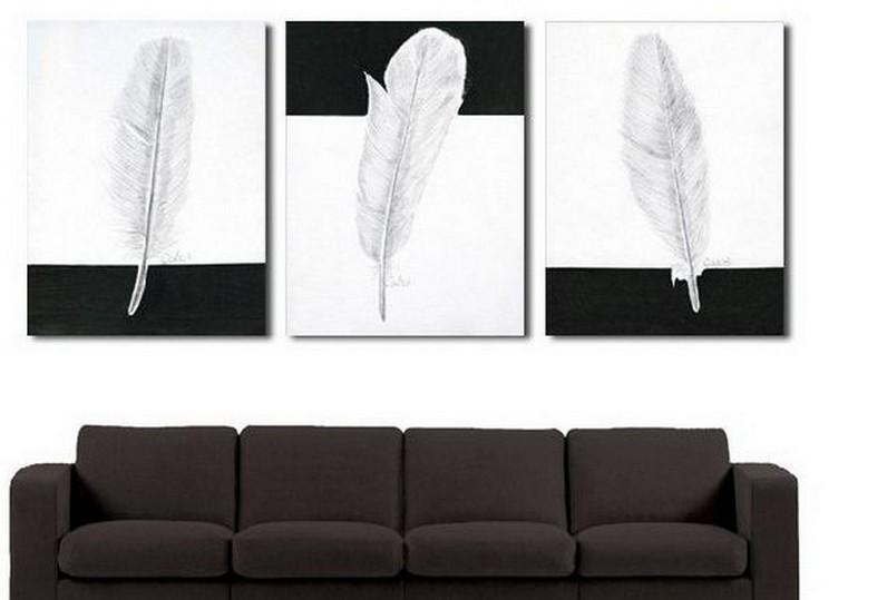 Canvas Painting, Abstract Painting, Living Room Wall Art, Modern Art, 3 Piece Wall Art, Abstract Painting, Black and White Art