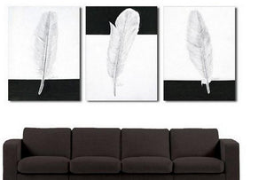 Canvas Painting, Abstract Painting, Living Room Wall Art, Modern Art, 3 Piece Wall Art, Abstract Painting, Black and White Art - Art Painting Canvas