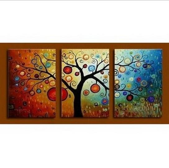 Abstract Art, Tree of Life Painting, Canvas Painting, 3 Piece Wall Art, Modern Artwork, Abstract Painting - Art Painting Canvas
