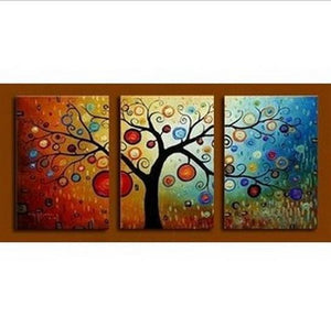 Abstract Art, Tree of Life Painting, Canvas Painting, 3 Piece Wall Art, Modern Artwork, Abstract Painting