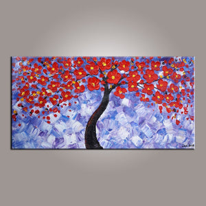 Painting on Sale, Flower Art, Abstract Art Painting, Tree Painting, Canvas Wall Art, Bedroom Wall Art, Canvas Art, Modern Art, Contemporary Art