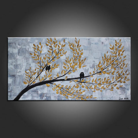 Art Painting, Abstract Art, Love Birds Painting, Modern Art, Contemporary Art, Flower Art, Canvas Art - Art Painting Canvas