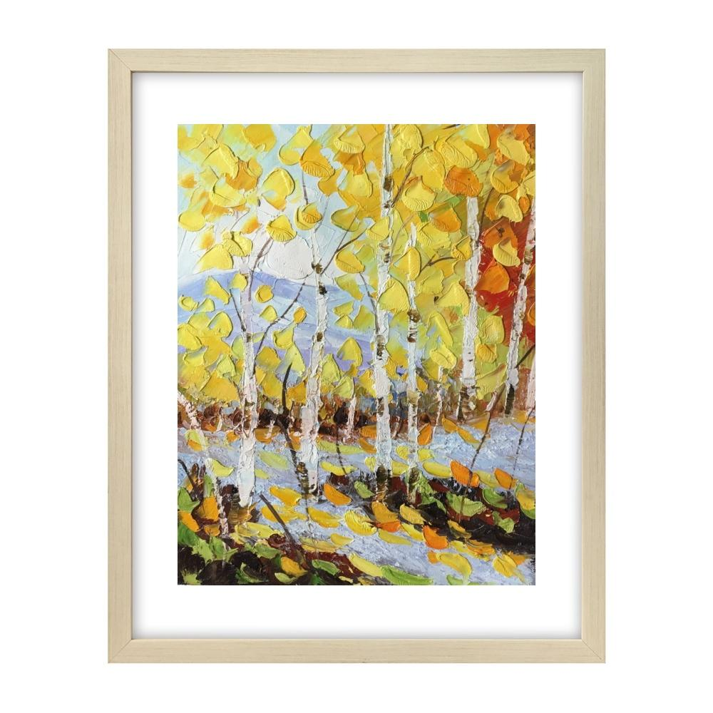 Original Painting, Birch Tree Painting, Small Art Painting, Canvas Art Painting