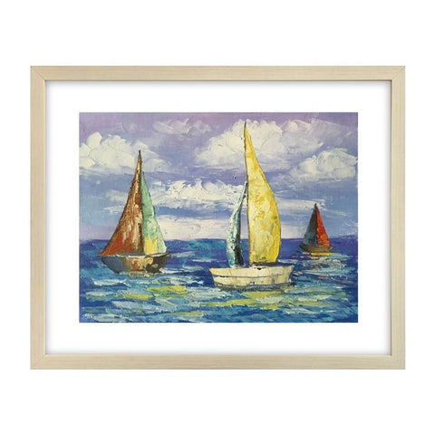 Canvas Art Painting, Modern Art, Sail Boat Painting, Original Painting, Small Art Painting - Art Painting Canvas