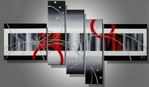 Abstract Painting, Huge Wall Art, Acrylic Art, 5 Piece Wall Painting, Hand Painted Art - Art Painting Canvas
